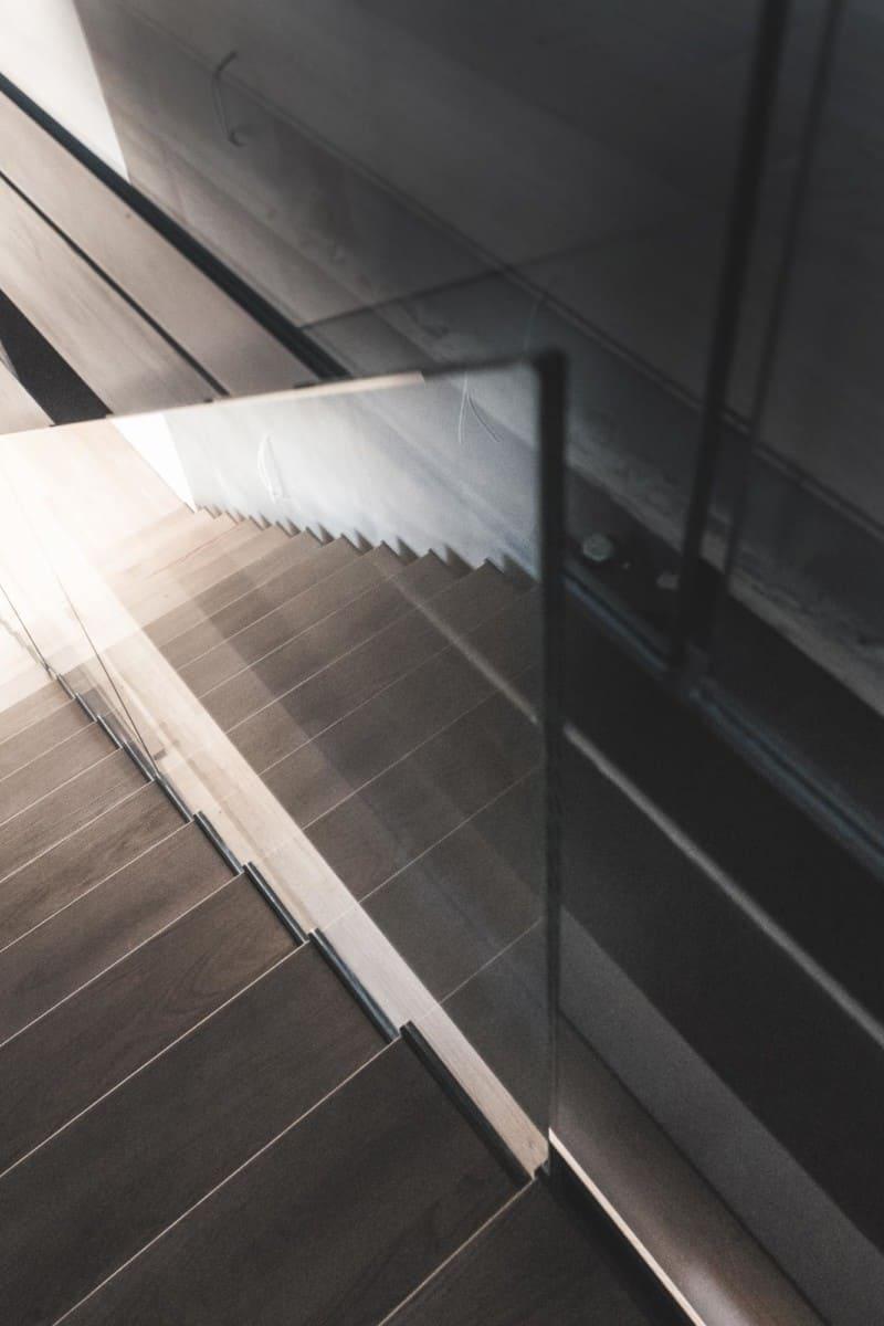Décoration escalier architecture - Maison d'architecte, villa contemporaine - Archidomo - architecture Annecy Lyon Paris