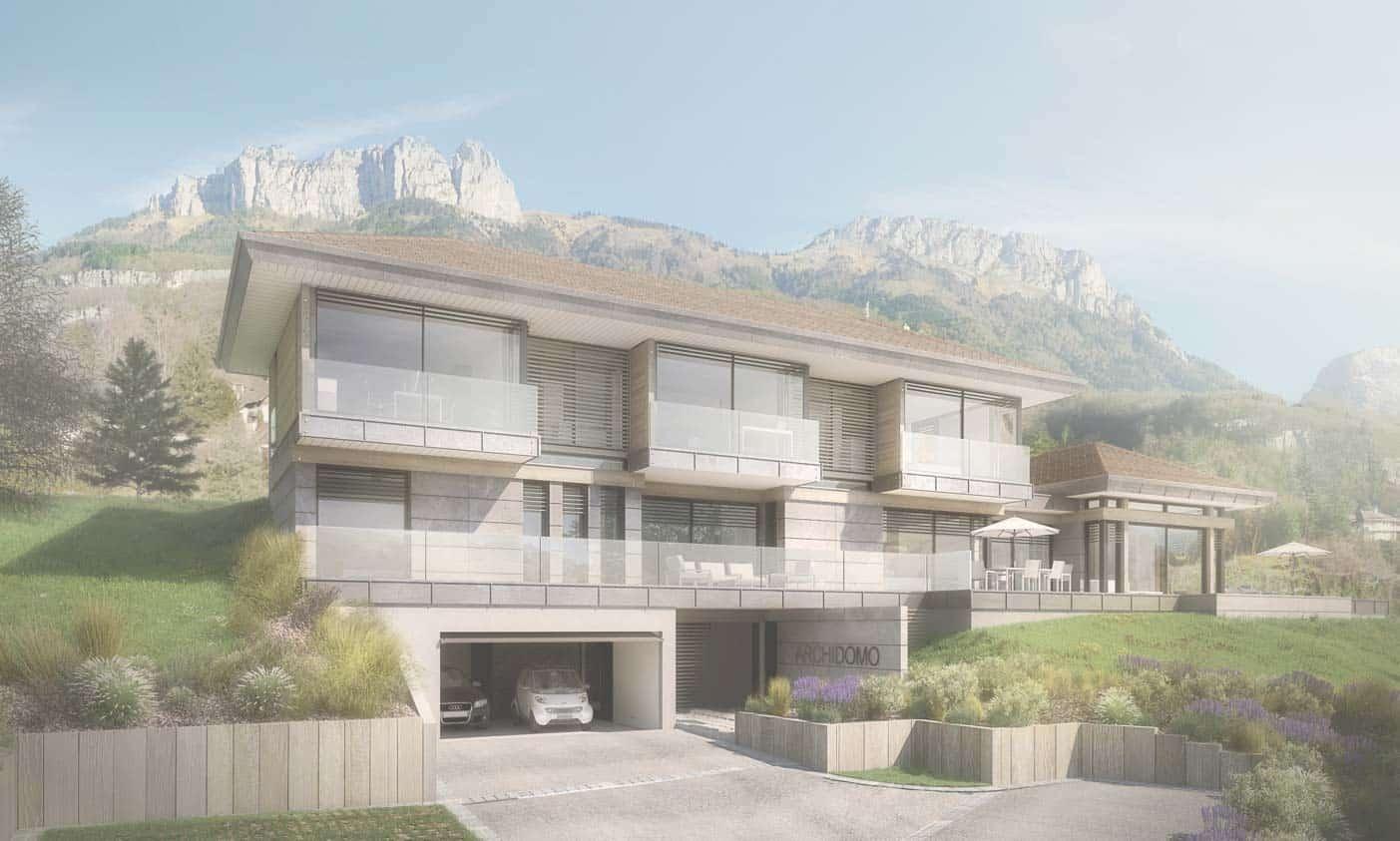 Talloires - Maison d'architecte, villa contemporaine - Archidomo - architecture Annecy Lyon Paris