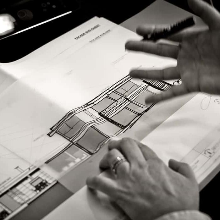 Plan - Maison d'architecte, villa contemporaine - Archidomo - architecture Annecy Lyon Paris - Lac Sevrier, Veyrier du lac, Talloire, Menthon Saint Bernard