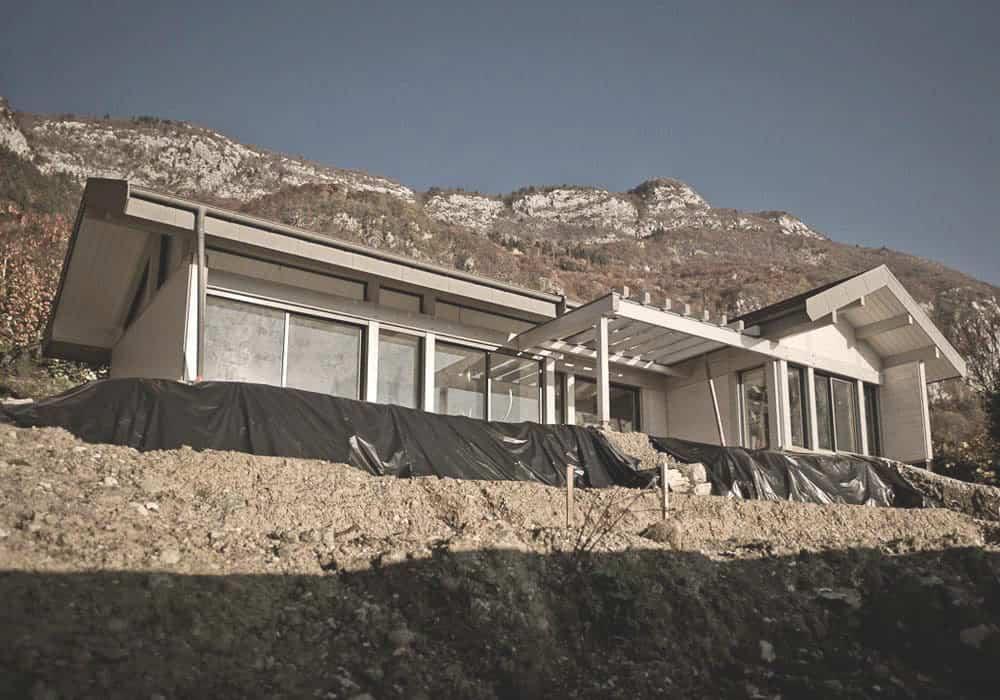 Construction Maison villa Annecy - Maison d'architecte, villa contemporaine - Archidomo - Annecy Lyon Paris