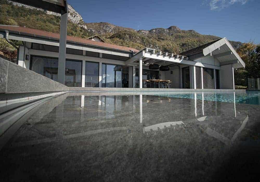 Maison de vacances Villa du Lac Sevrier, Veyrier du lac, Talloire, Menthon Saint Bernard — Décoration - Maison d'architecte, villa contemporaine - Archidomo - Annecy Lyon Paris