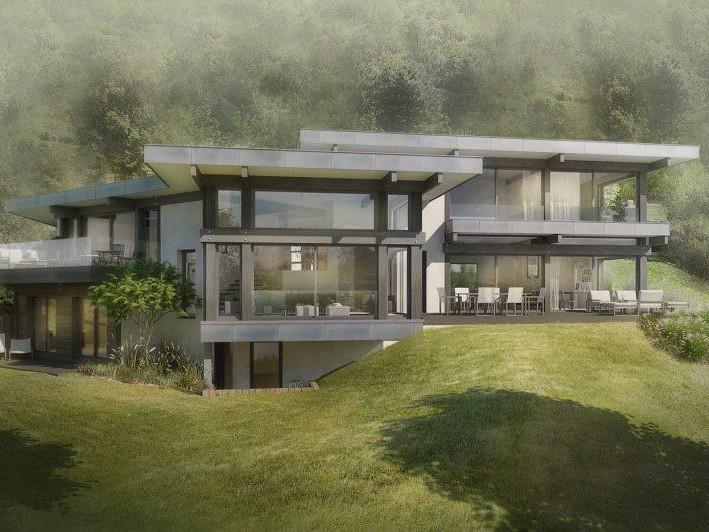 Villa Moderniste - Maison d'architecte, villa contemporaine - Archidomo - Annecy Lyon Paris