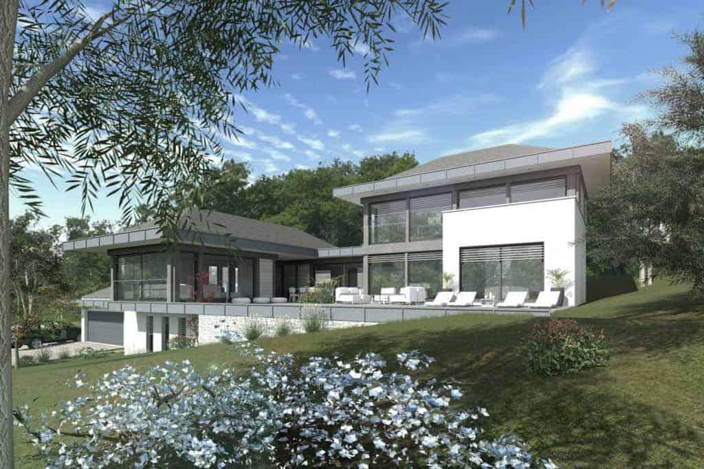 Résidence Villa moderne - Maison d'architecte, villa contemporaine - Archidomo - Annecy Lyon Paris