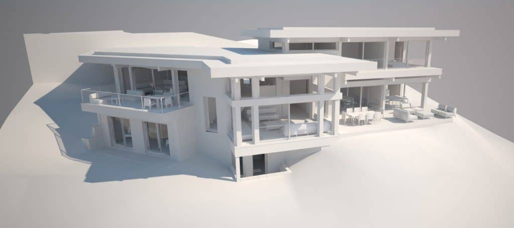 Plan - Maison d'architecte, villa contemporaine - Archidomo - Annecy Lyon Paris