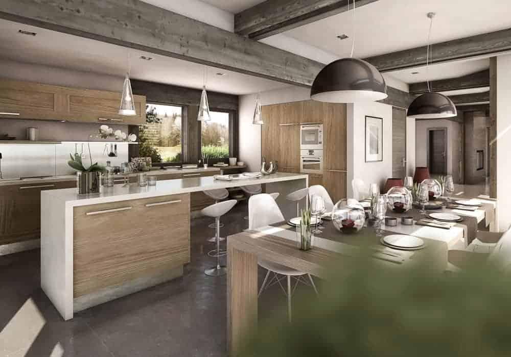 Cuisine contemporaine - Maison d'architecte, villa contemporaine - Archidomo