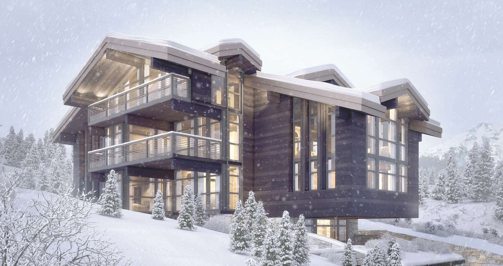 Chalet de Luxe Courchevel Maison d'architecte, villa contemporaine - Archidomo