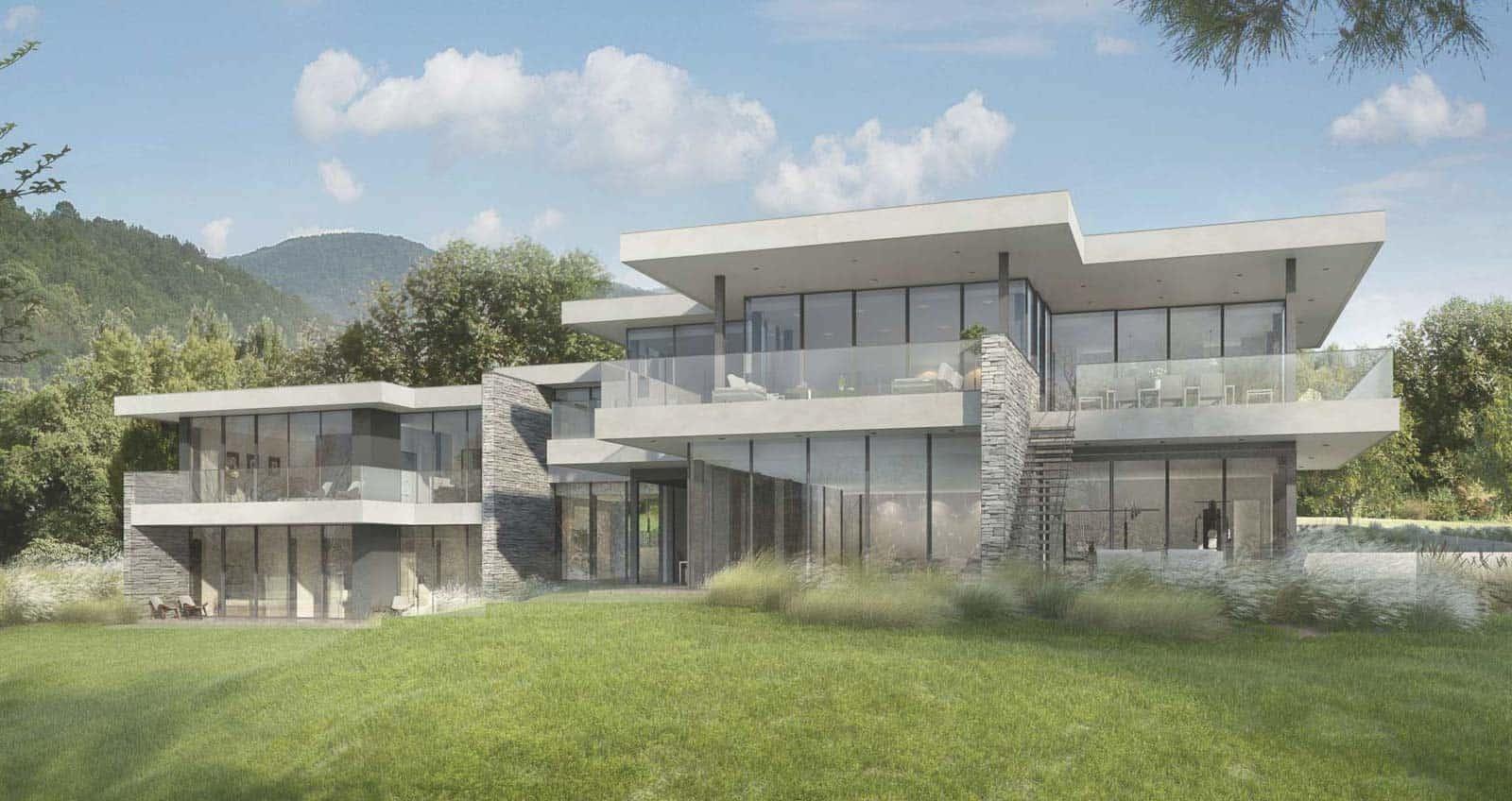 Maison de luxe Annecy Maison d'architecte, villa contemporaine - Archidomo