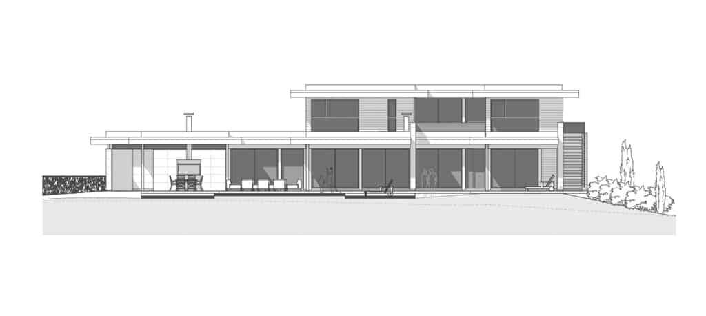 Plan maison contemporaine Annecy Maison contemporaine poteaux-poutre Annecy Poisy - Maison d'architecte, villa contemporaine - Archidomo - Annecy Lyon Paris