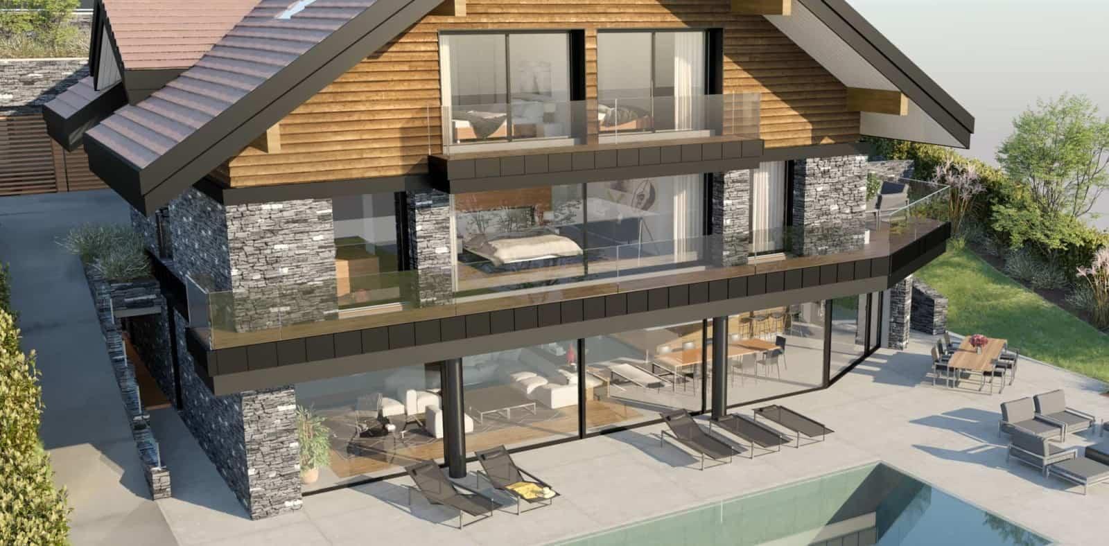 Rénovation Maison Annecy Maison d'architecte, villa contemporaine - Archidomo