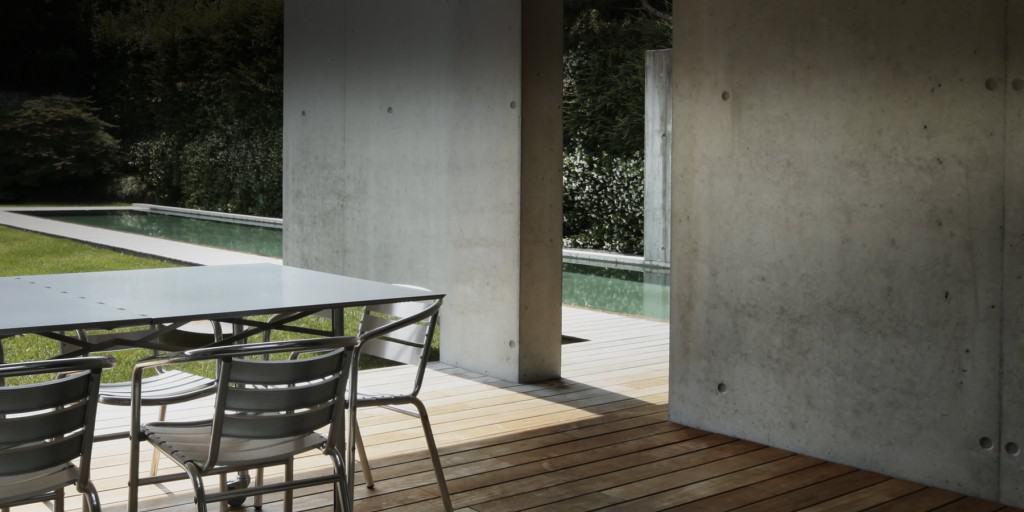 Terrasse minimaliste - Maison d'architecte, villa contemporaine - Archidomo - Annecy Lyon Paris