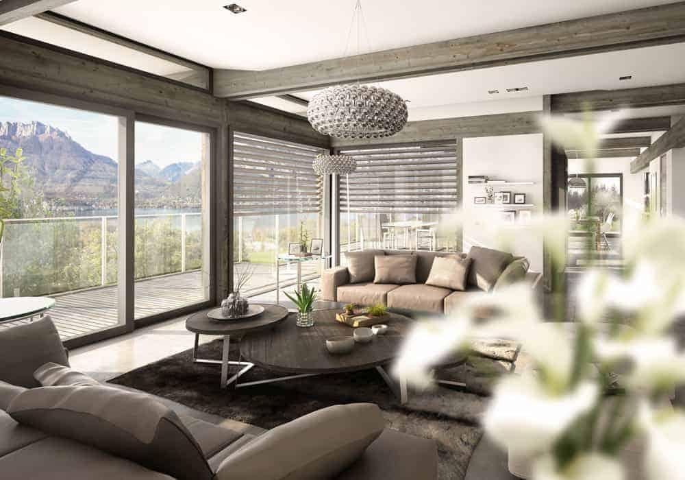 Salon décoration maison moderne - Maison d'architecte, villa contemporaine - Archidomo