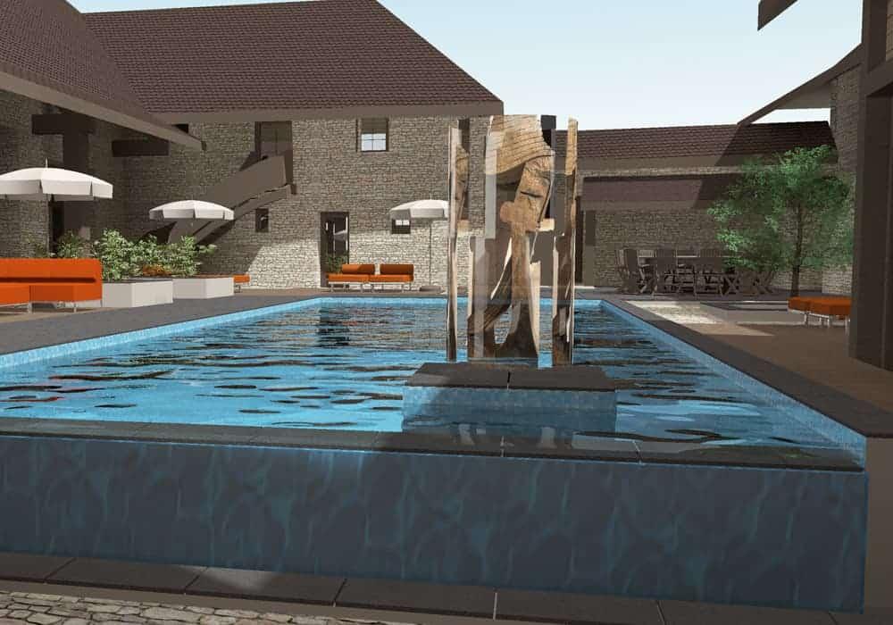 piscine à débordement - Maison d'architecte, villa contemporaine - Archidomo - Annecy Lyon Paris
