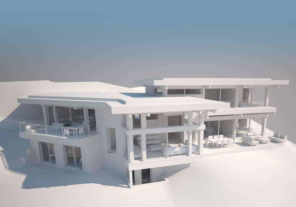 Maquette 3D Maison d'architecte Annecy, villa contemporaine - Archidomo