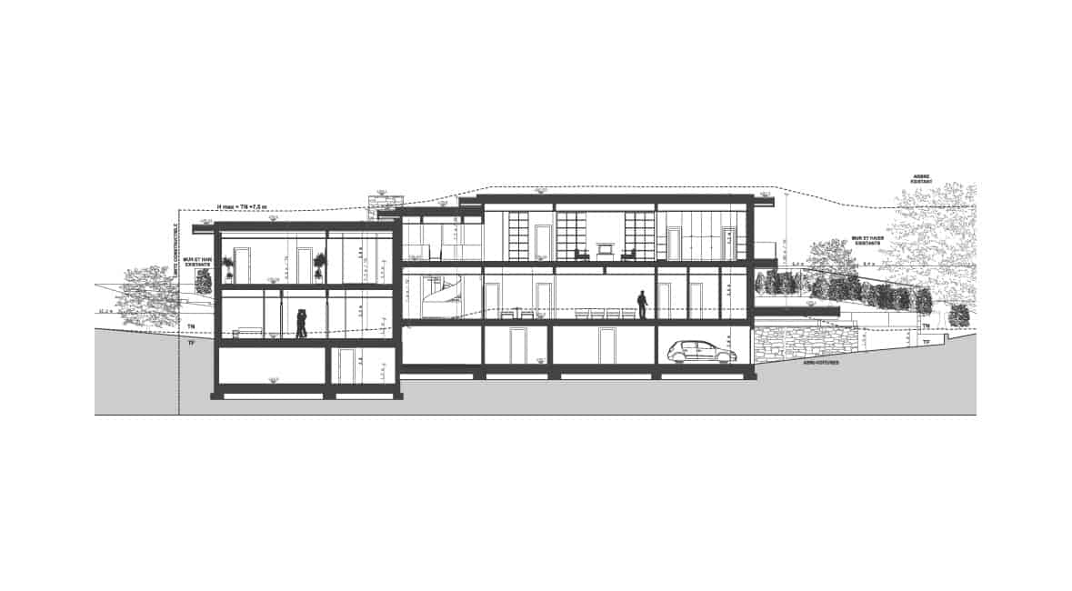 Plan Maison Contemporaine Lyon