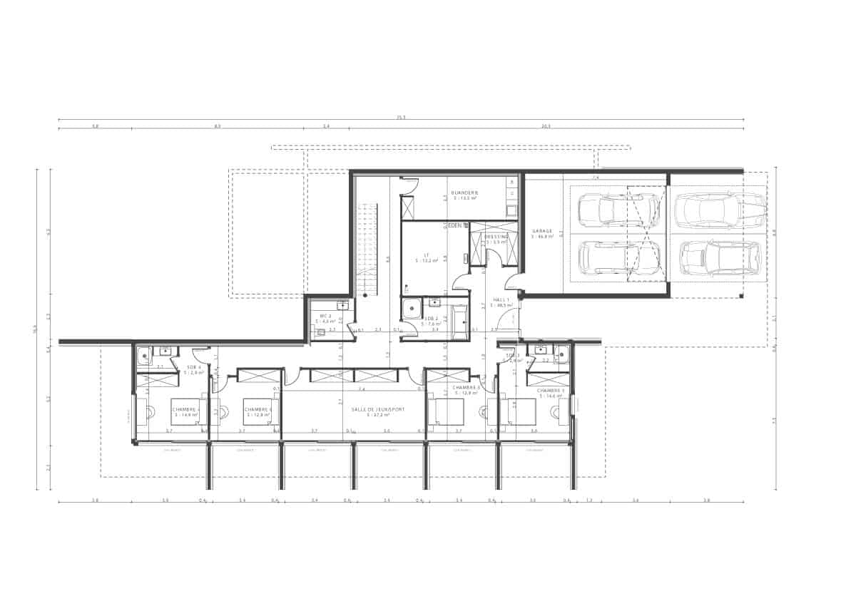 Plan Maison contemporaine - Maison d'architecte, villa contemporaine - Archidomo