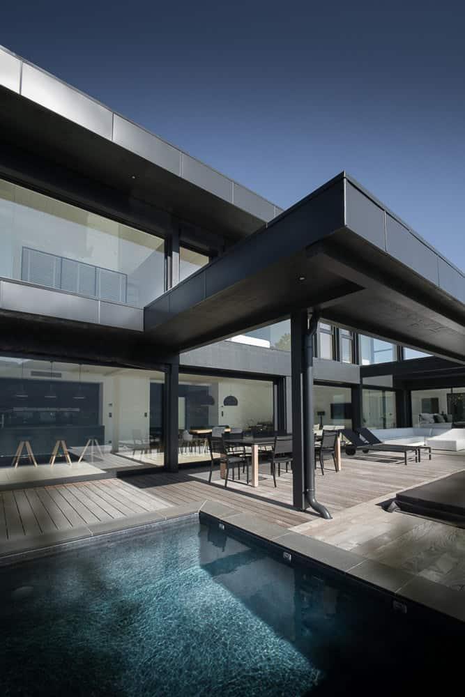 Terrasse moderne lac d'Annecy - Maison d'architecte, villa contemporaine - Archidomo
