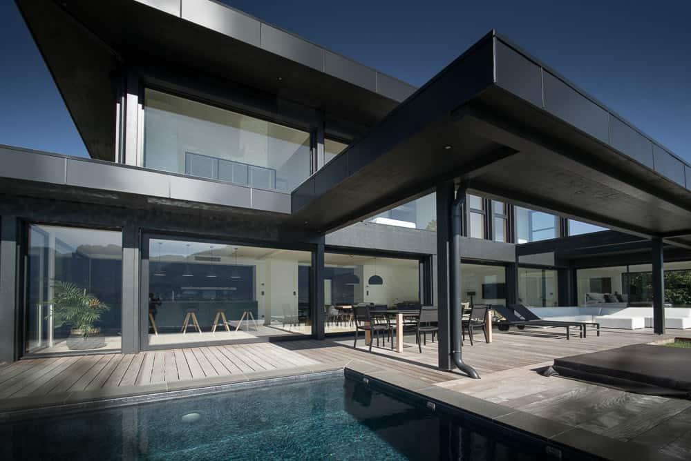 Terrasse Luxe Annecy - Maison d'architecte, villa contemporaine - Archidomo