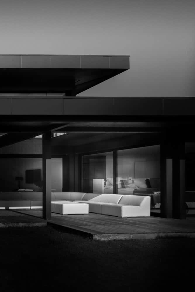 Terrasse vue Lac - Maison d'architecte, villa contemporaine - Archidomo