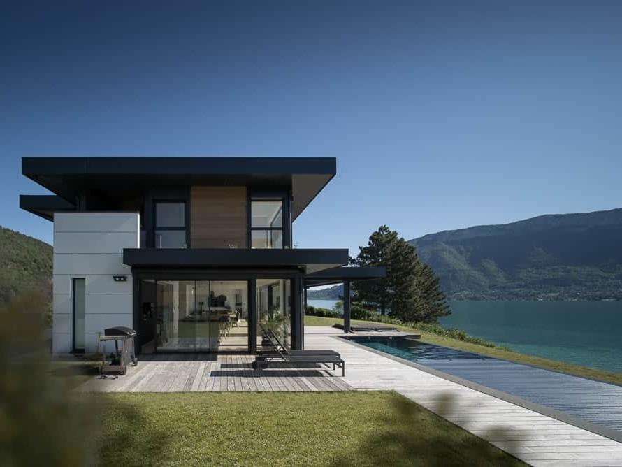 Villa haut de gamme Lac d'Annecy - Maison d'architecte, villa contemporaine - Archidomo