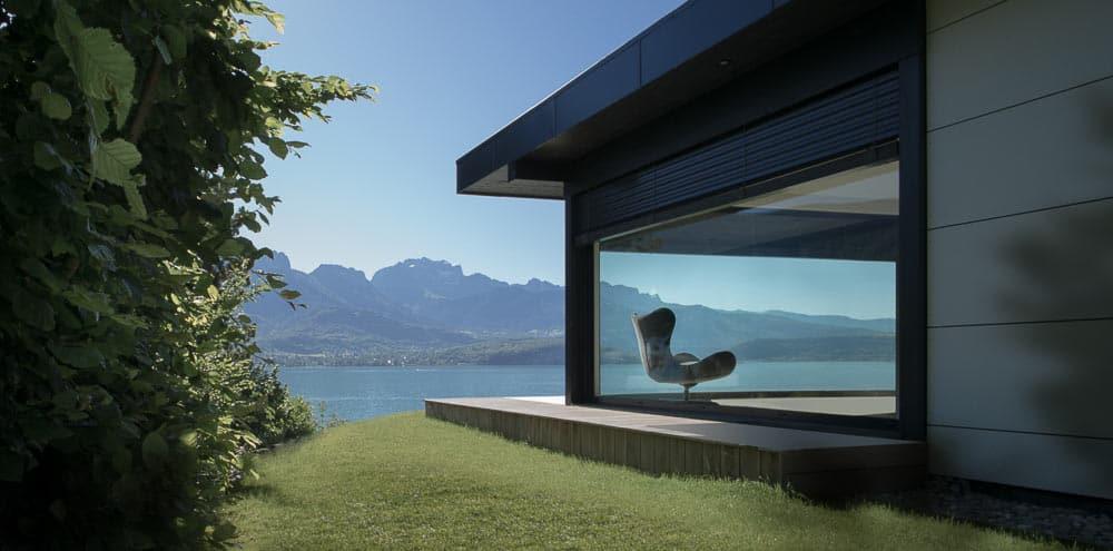 Vue lac d'Annecy Terrasse - Maison d'architecte, villa contemporaine - Archidomo