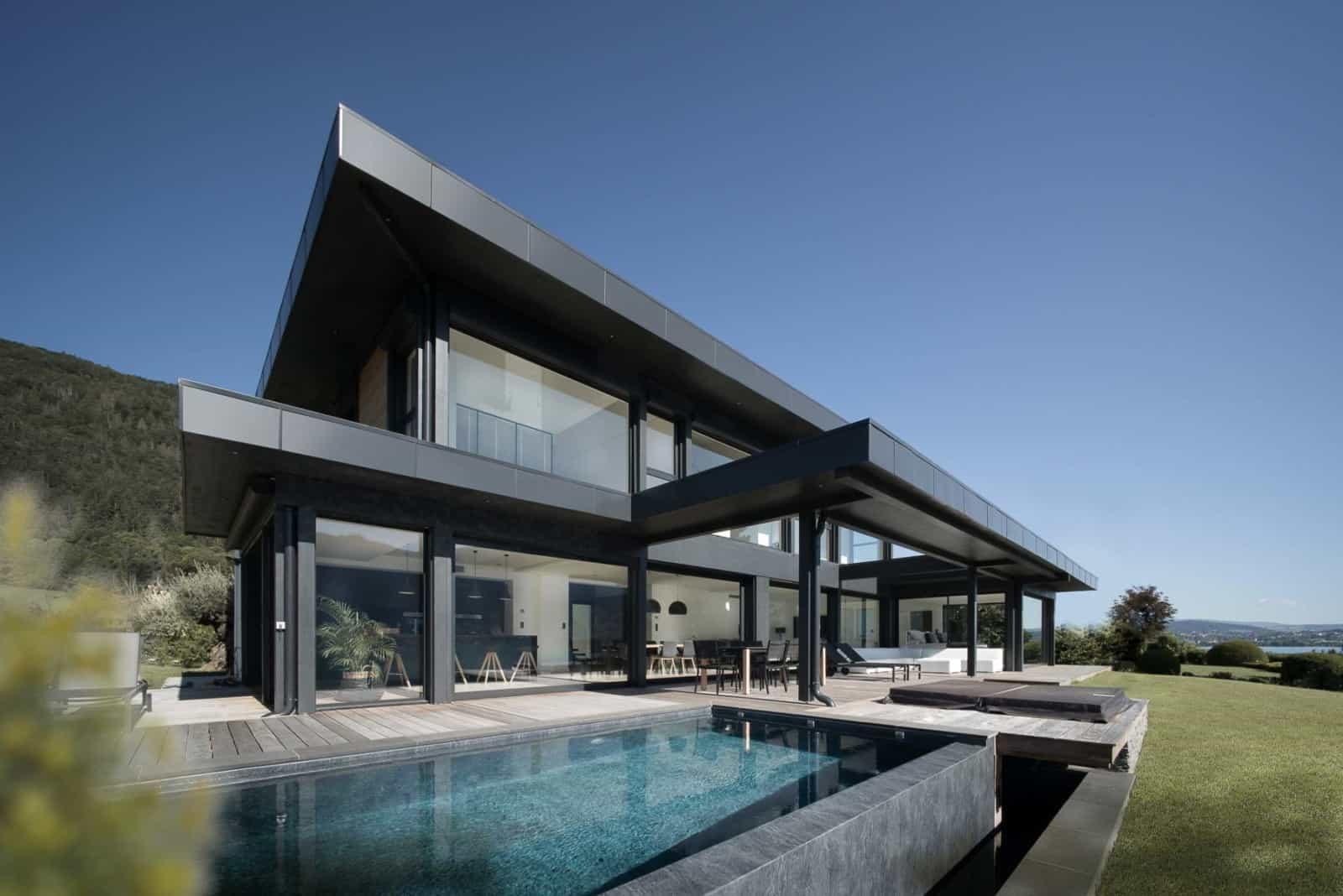 Maison Moderne lac d'Annecy - Maison d'architecte, villa contemporaine - Archidomo