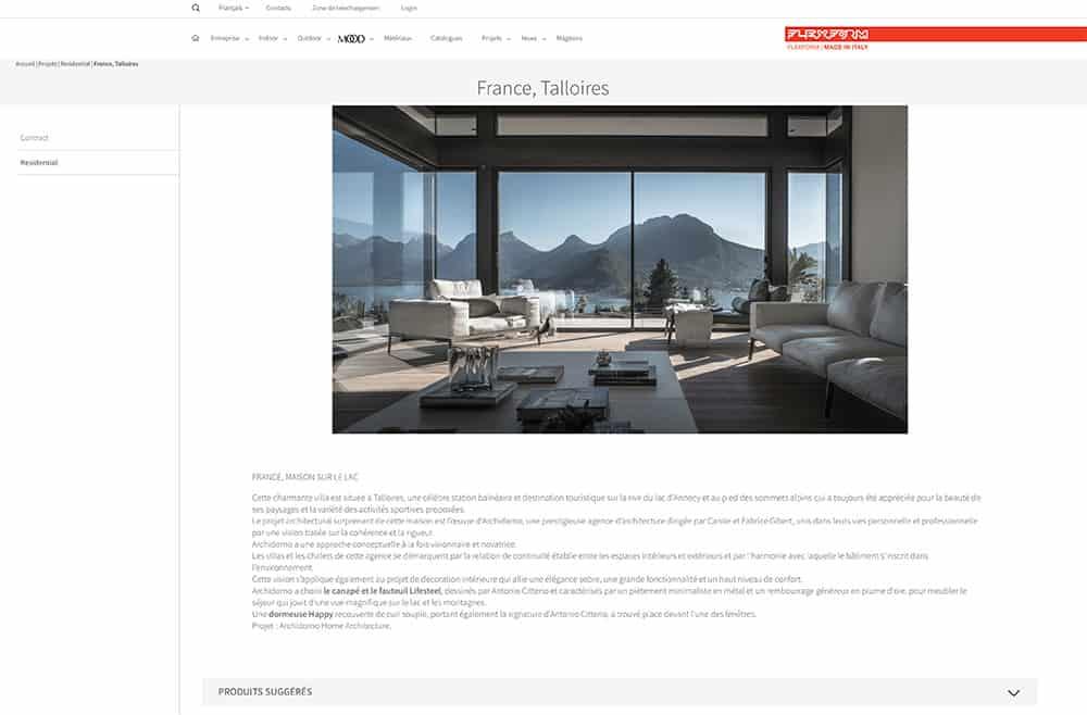 Article Flexform, article Archidomo Lac d'Annecy - Maison d'architecte, villa contemporaine