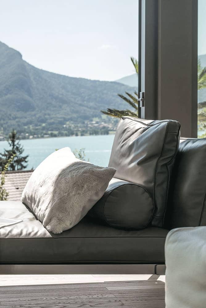 Détail salon, Archidomo Lac d'Annecy - Maison d'architecte, villa contemporaine