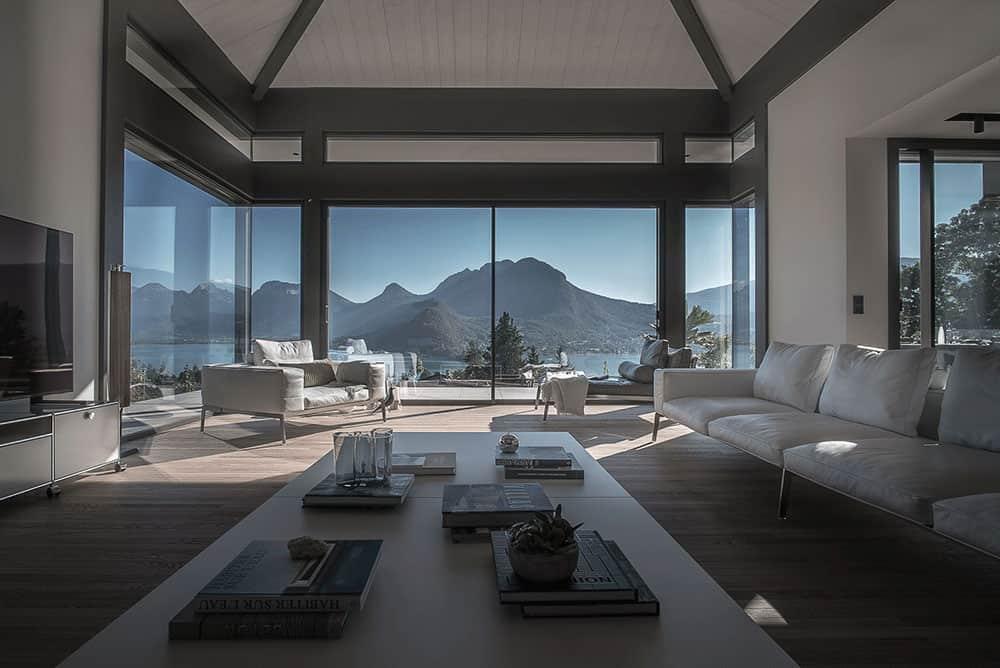 Salon, Archidomo Lac d'Annecy - Maison d'architecte, villa contemporaine