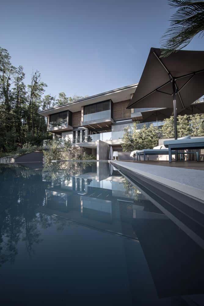 Villa luxe, piscine débordement, Lac d'Annecy - Maison d'architecte, villa contemporaine - Archidomo