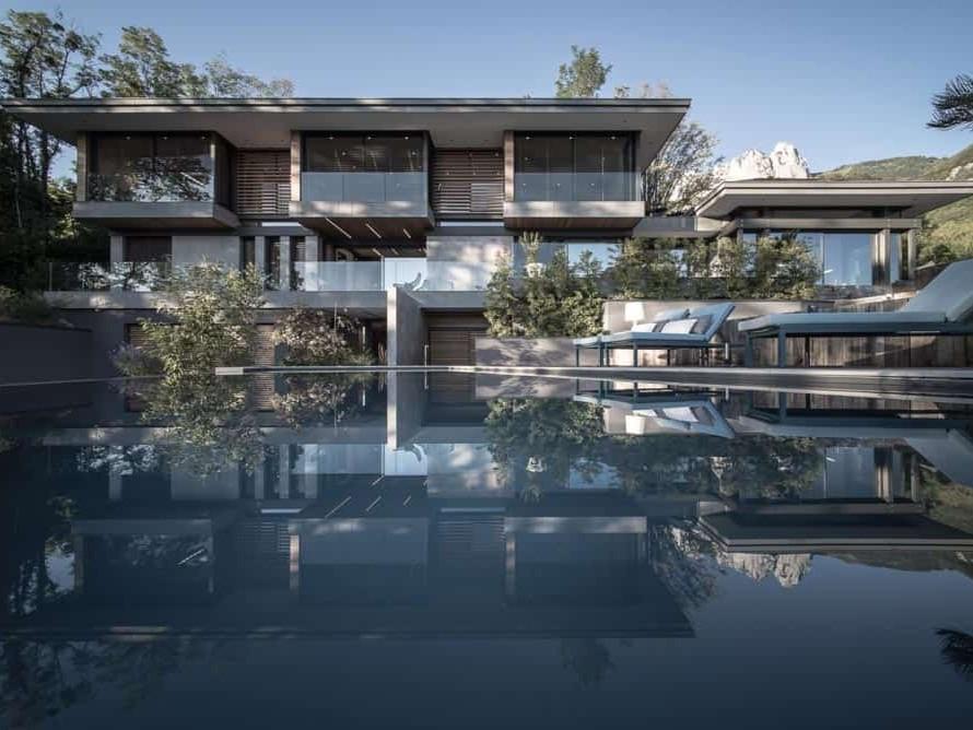 Photo piscine, Architecture, Lac d'Annecy - Maison d'architecte, villa contemporaine - Archidomo