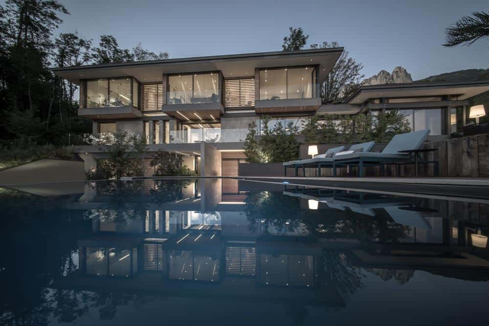 Photo Architecture, piscine, Lac d'Annecy - Maison d'architecte, villa contemporaine - Archidomo