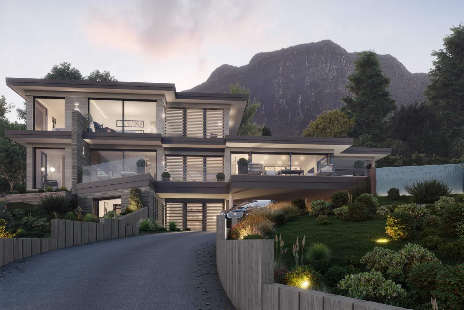 Villa Veyrier-du-Lac, chantier Lac d'Annecy