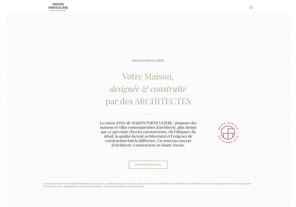 Nouveau site internet 3 constructeur, Lac d'Annecy - Maison, villa contemporaine - Maison Particulière Archidomo