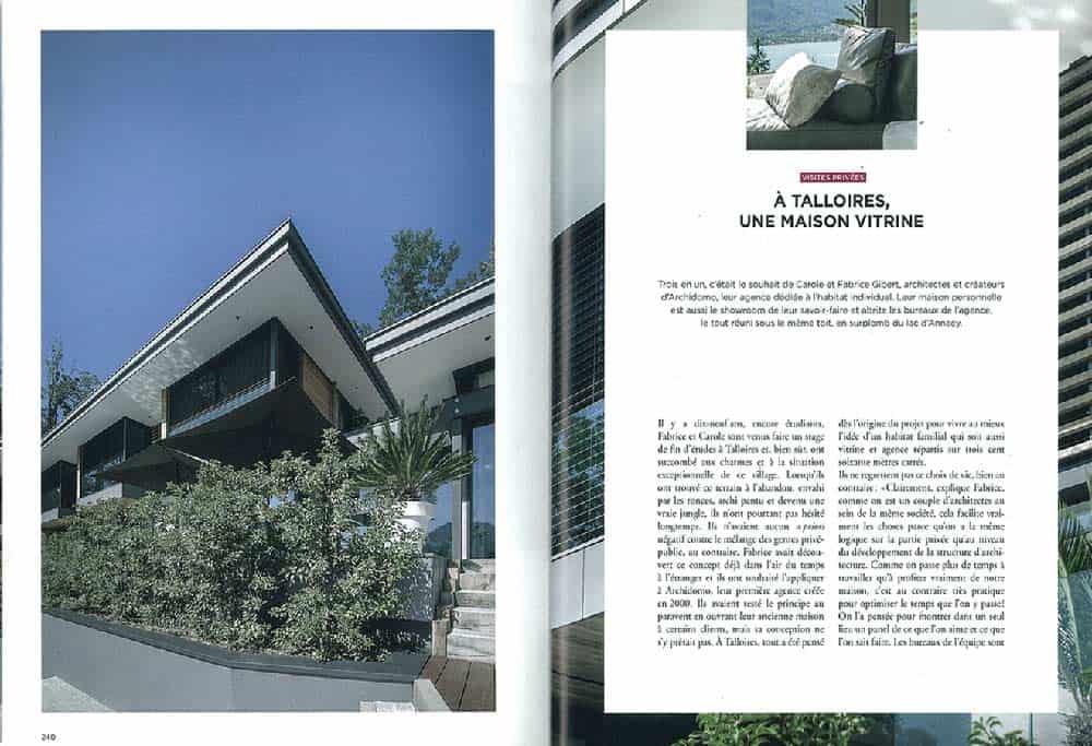 Archidomo parution Vue Lac, édition Glénat, architecture Savoie Mont-Blanc p1
