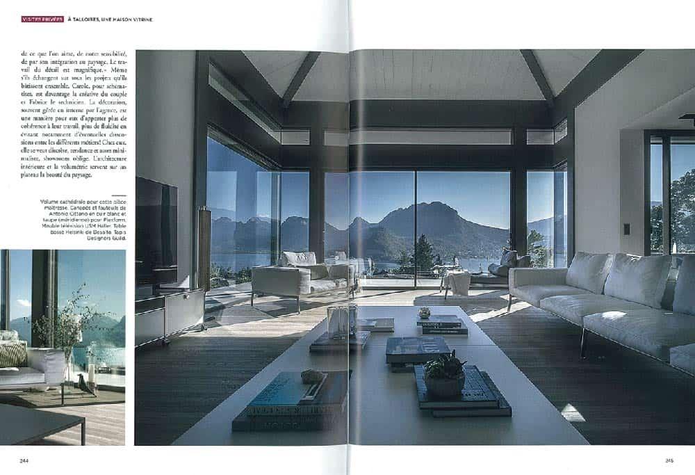 Archidomo parution Vue Lac, édition Glénat, architecture Savoie Mont-Blanc p3