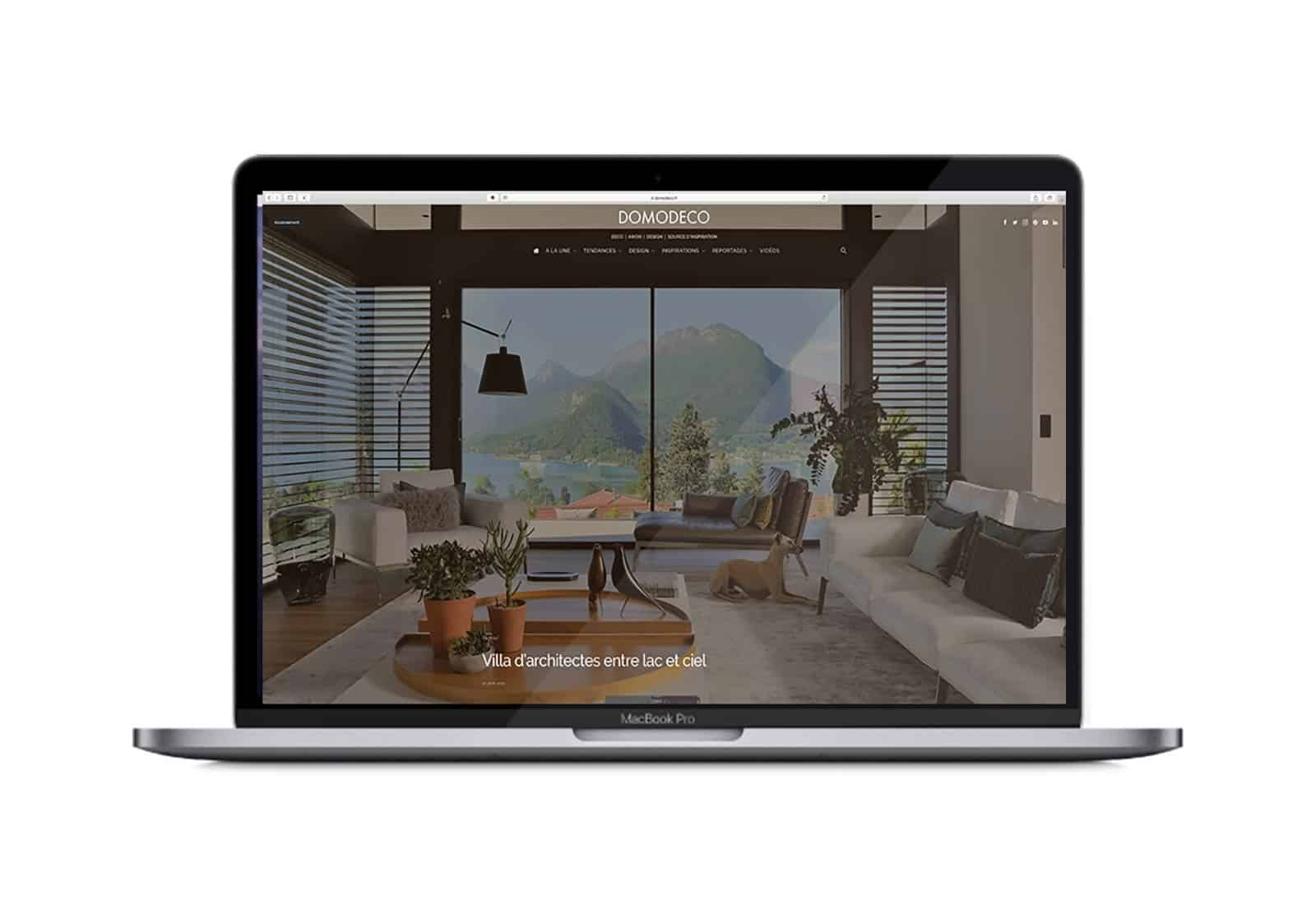 Domodeco article archidomo villa akila, Annecy Talloires - site internet