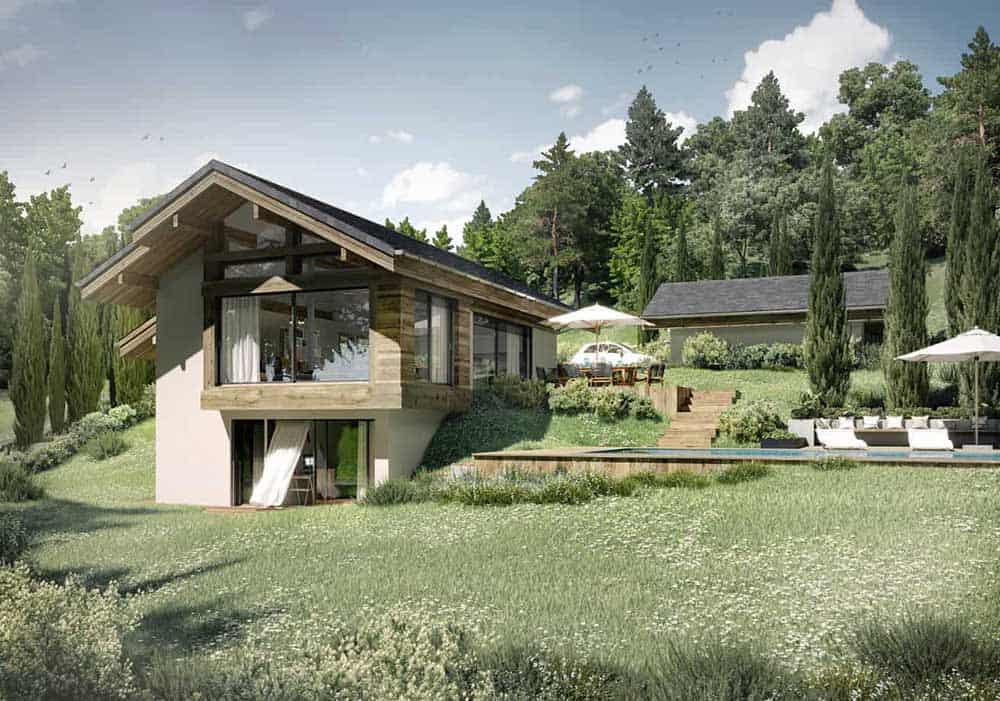 Maison Particulière, architecte constructeur Annecy - villa contemporaine 1