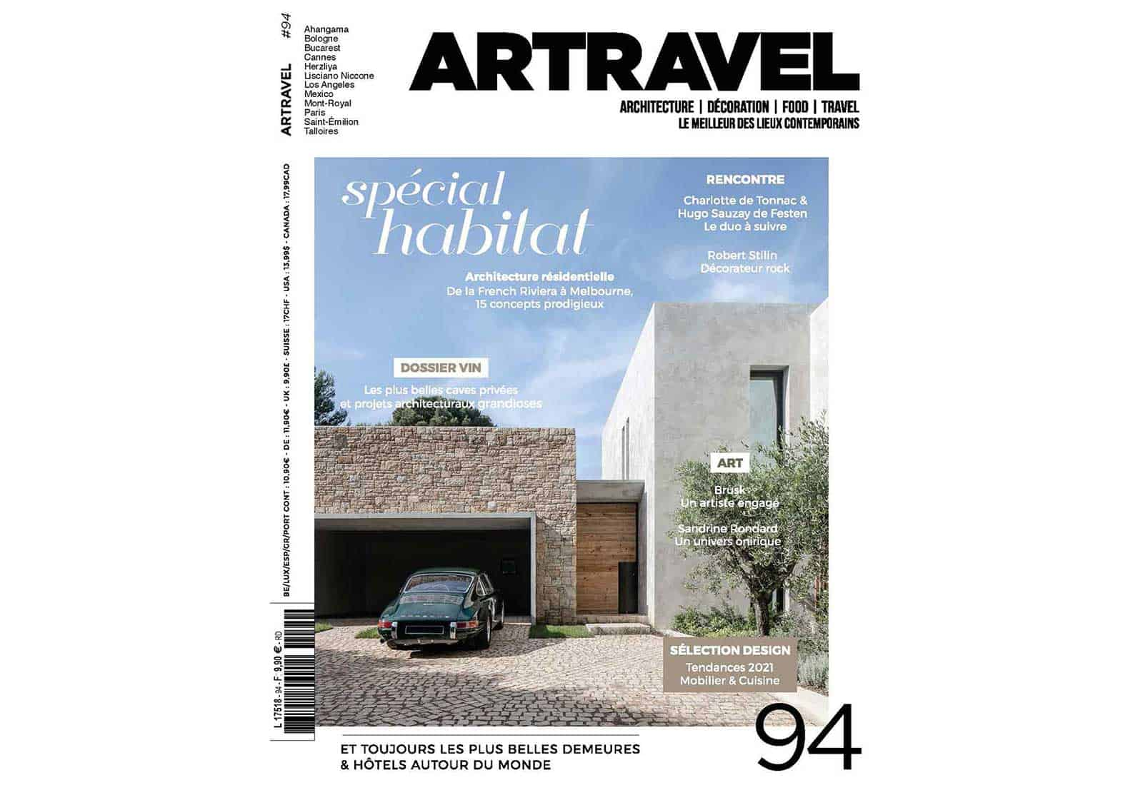 Artravel article archidomo villa akila, Annecy Talloires - n94 couverture