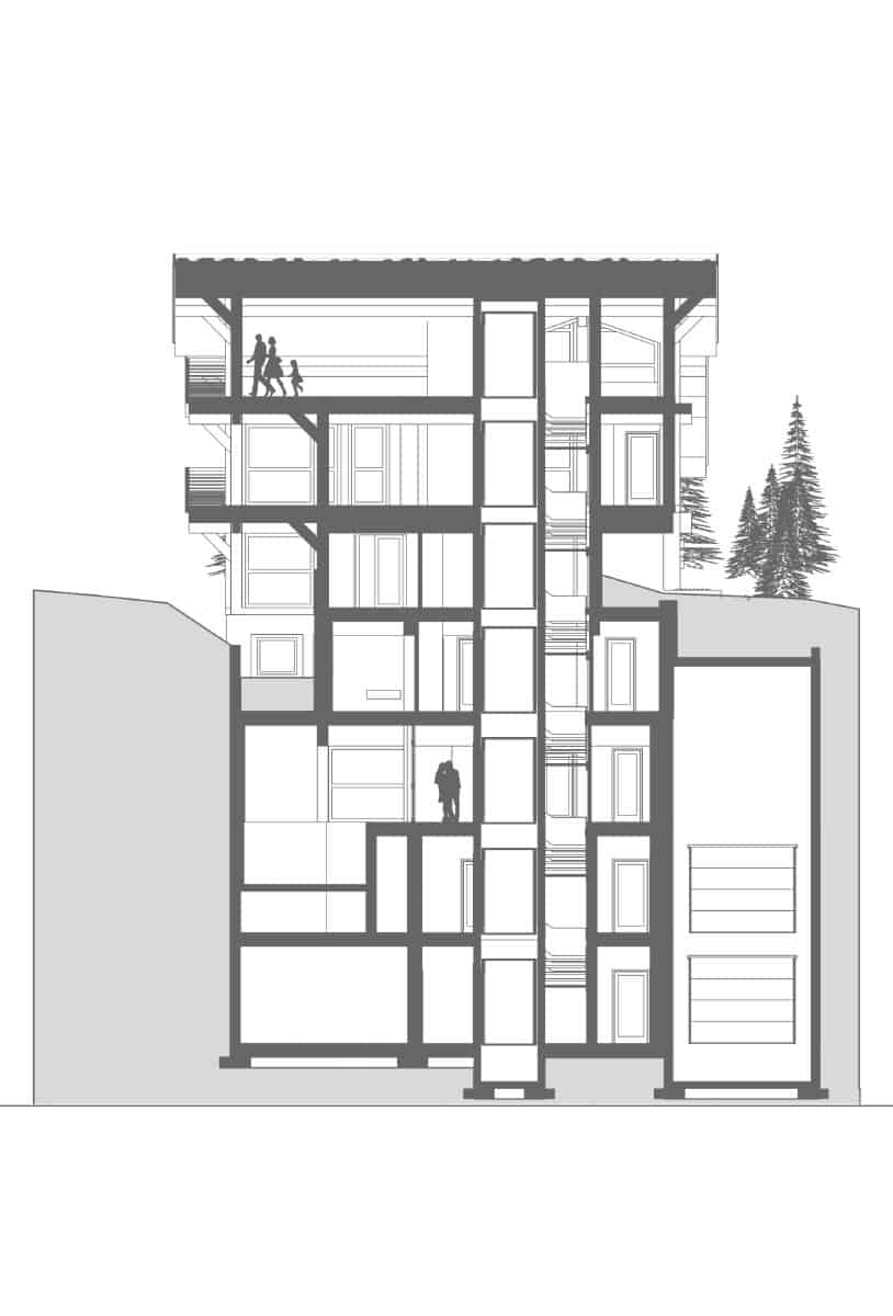 Archidomo, architecte plan chalet Courchevel, Megève, Val d'Isère, Chamonix...